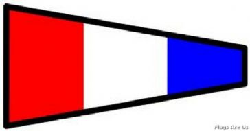 Number 3 Code Signal Pennant
